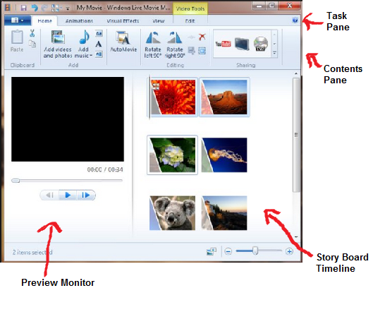 Here are some of the things you can do in Windows Live Movie Maker :