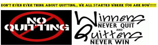 No quitting banner